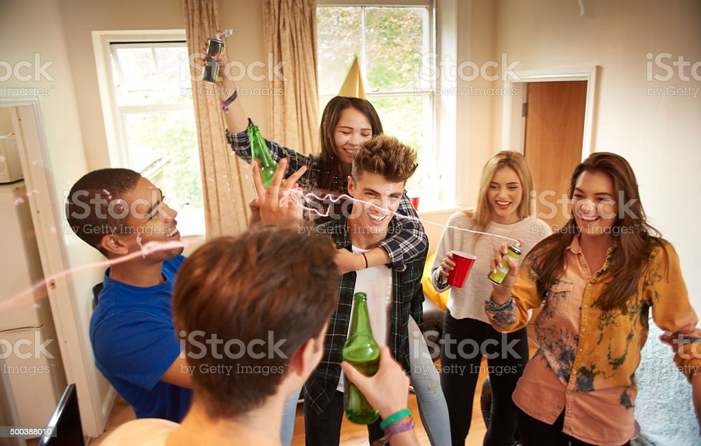student party stock photo