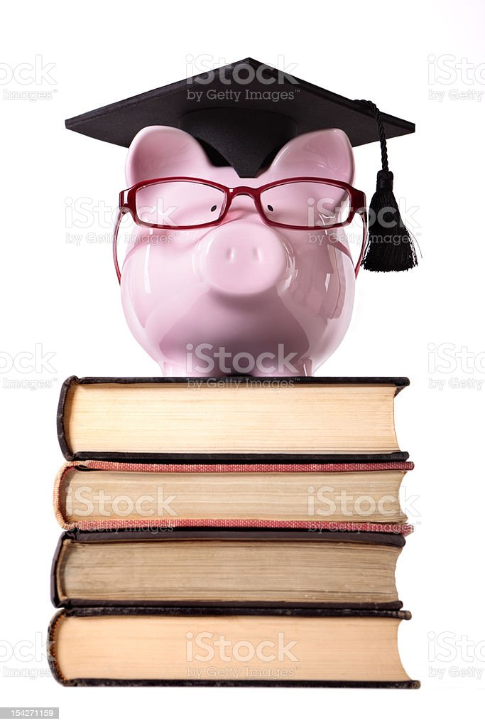 Student Piggy Bank royalty-free stock photo