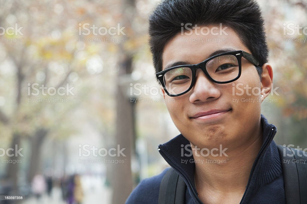 Student portrait at college stock photo