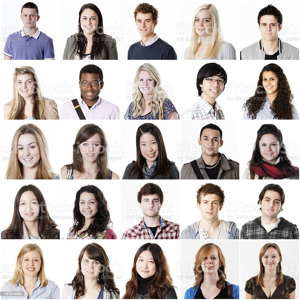 Student portraits royalty-free stock photo