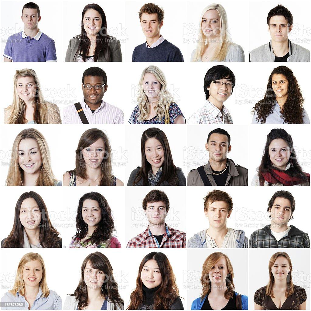 Student portraits stock photo