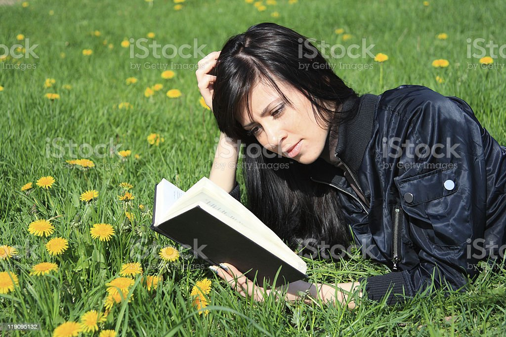 student reading book royalty-free stock photo