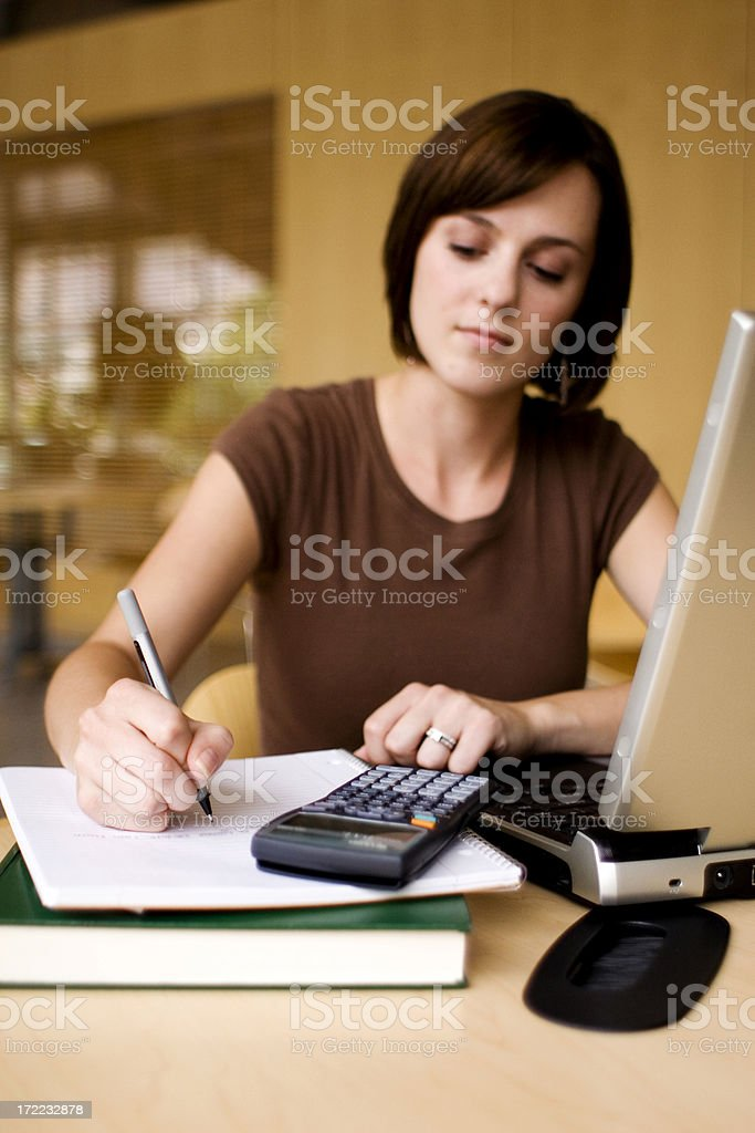 Student Research royalty-free stock photo