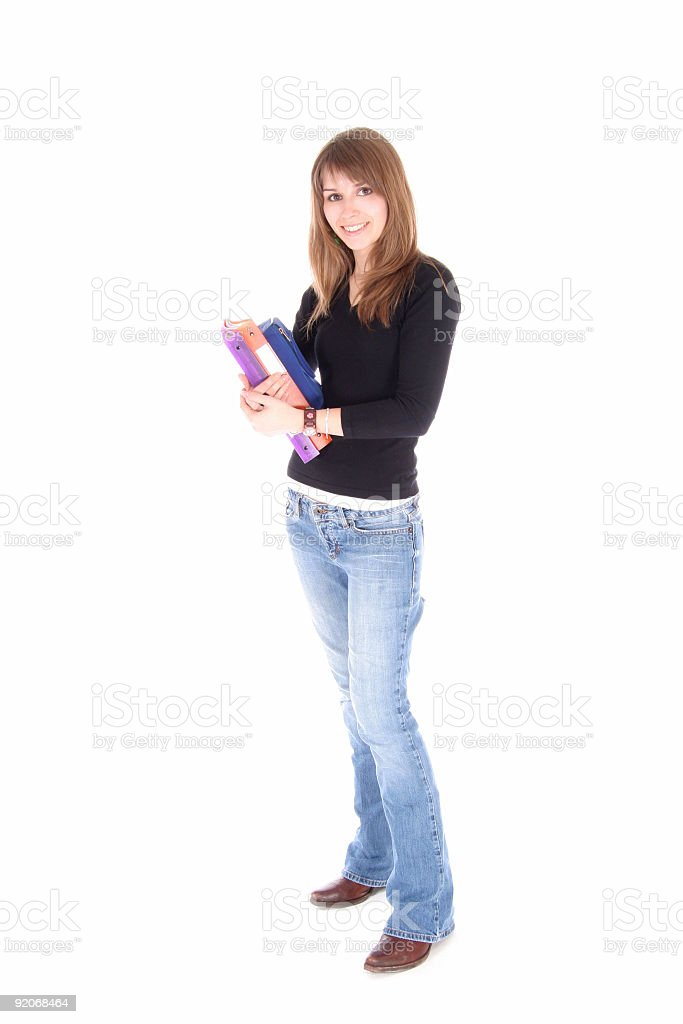 student standing royalty-free stock photo