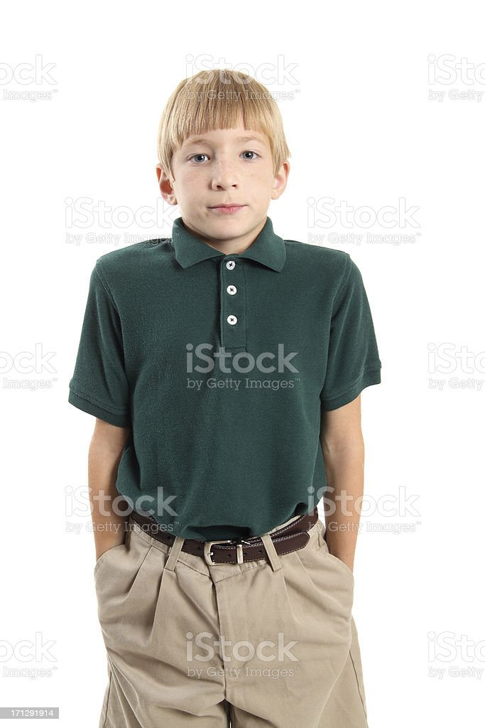 Student Standing Straight royalty-free stock photo