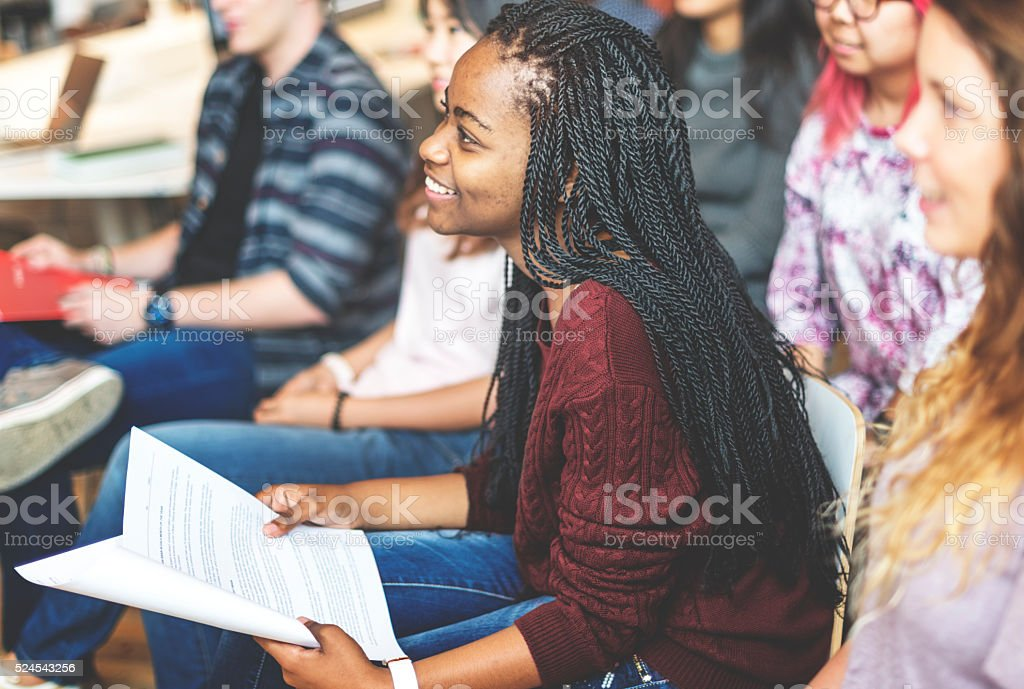 Student Study Classmate Classroom Lecture Concept stock photo