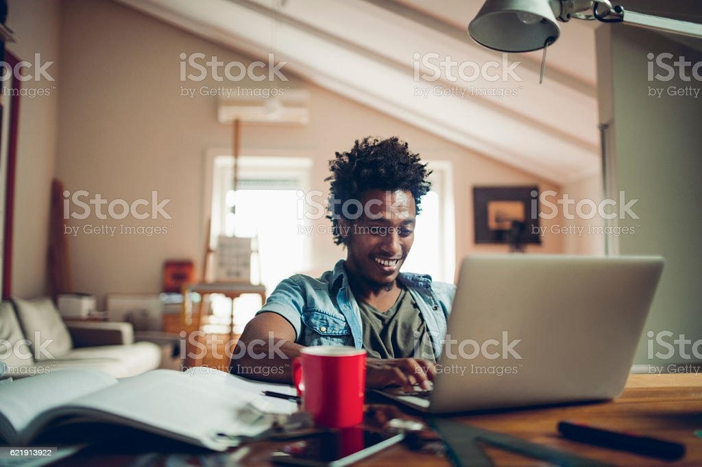 Student studying stock photo