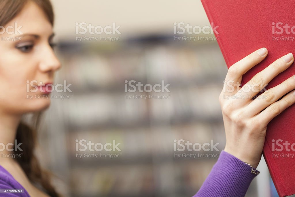 Student taking a book royalty-free stock photo