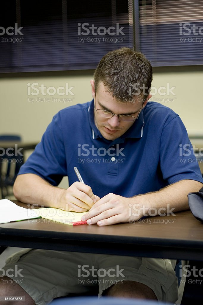 Student Taking Notes stock photo