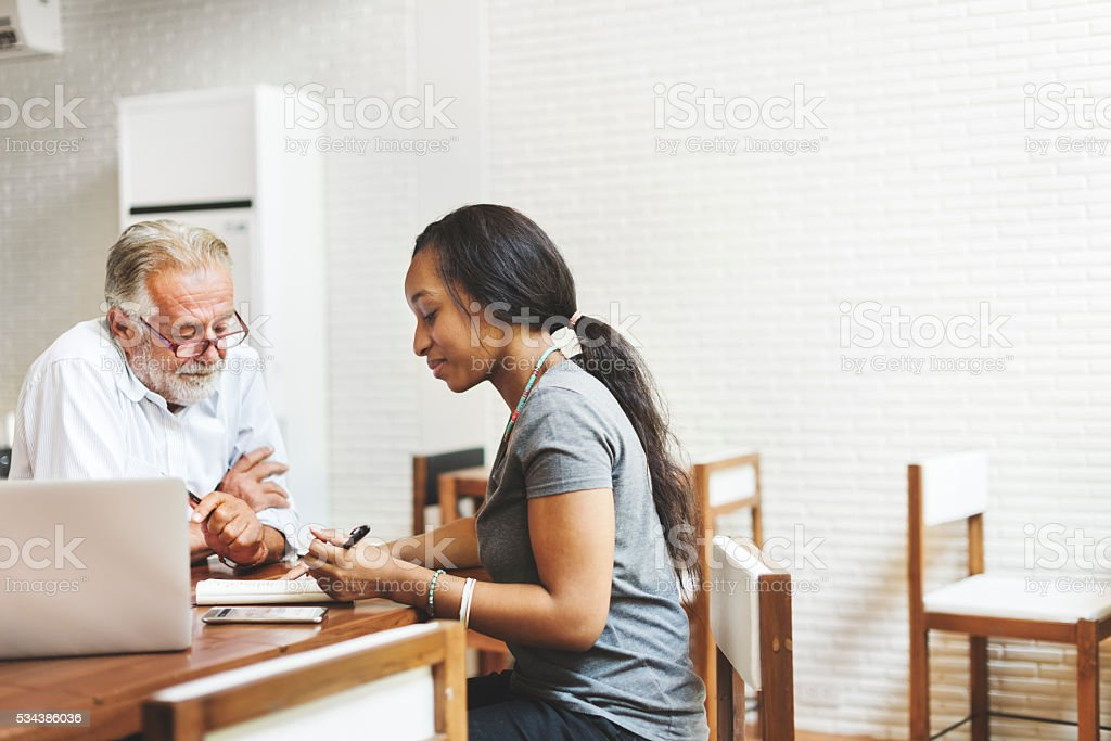 Student Teacher Studying Lesson School Concept stock photo