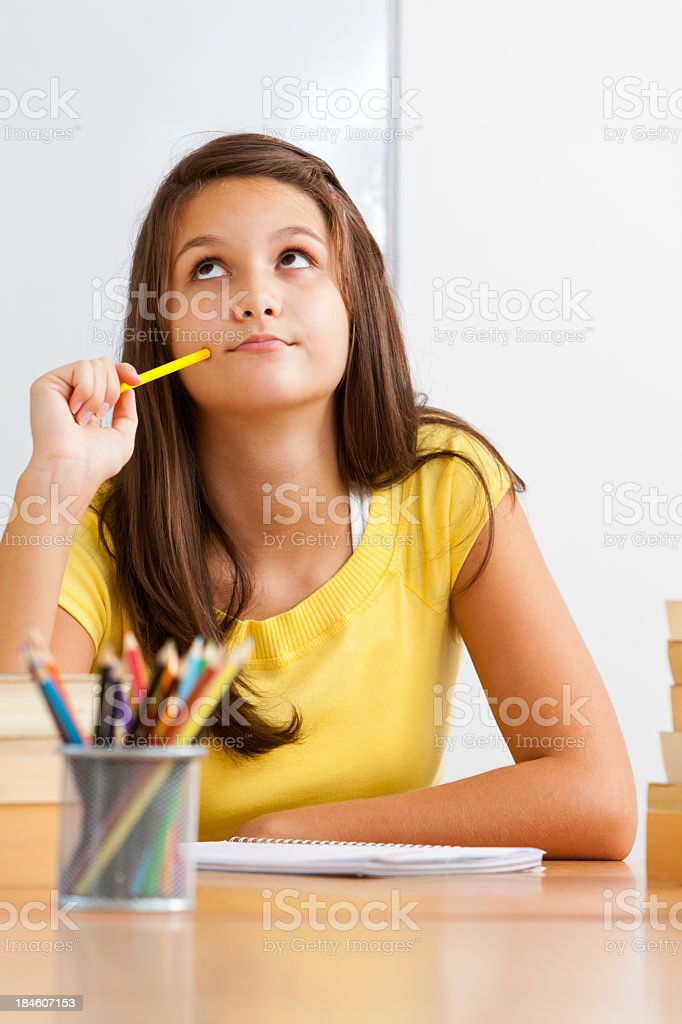 Student Thinking royalty-free stock photo