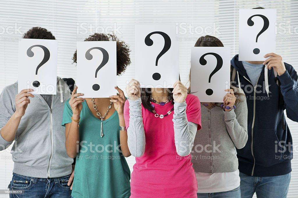 Student uncertainty stock photo