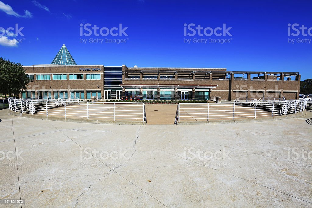 Student Union, Chicago State University in Roseland stock photo