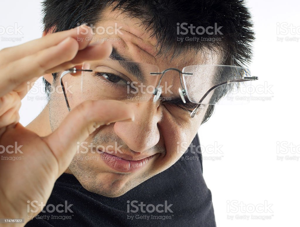 Student vision problems royalty-free stock photo