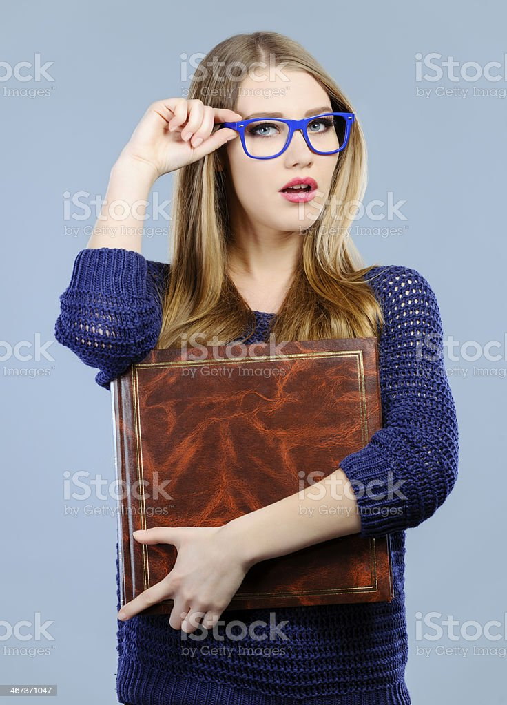 student with book royalty-free stock photo
