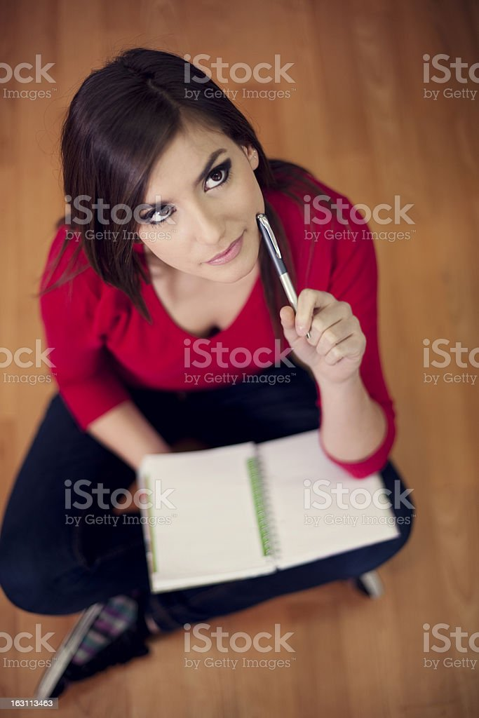 Student with notebook royalty-free stock photo
