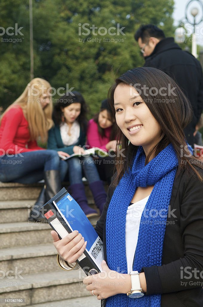 Student with Notepad stock photo