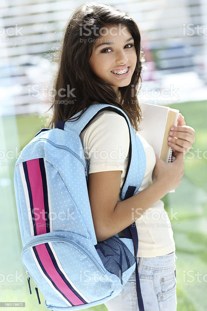 Student with textbooks royalty-free stock photo