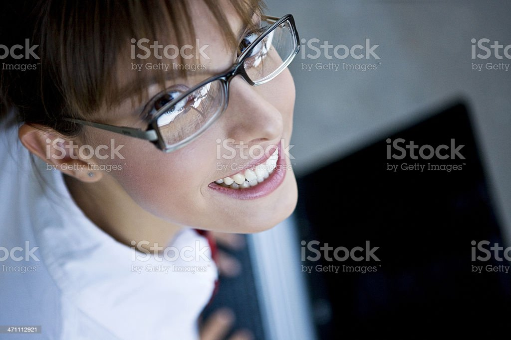 Student Working on Laptop royalty-free stock photo