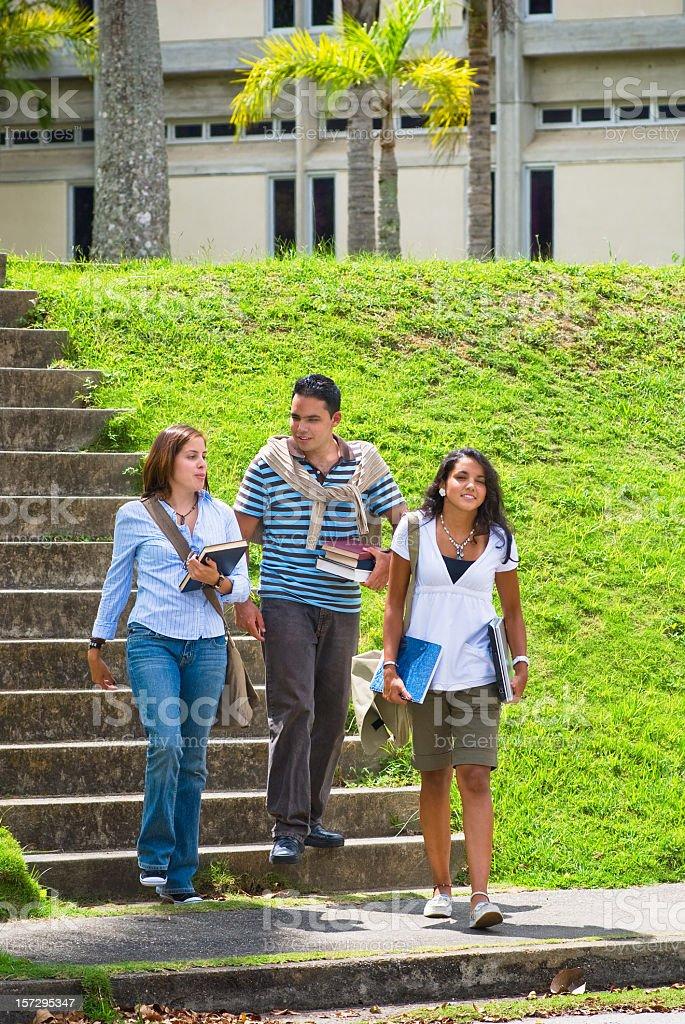 Students at a Campus royalty-free stock photo