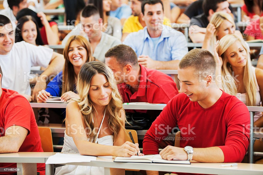 Students at lecture hall. royalty-free stock photo
