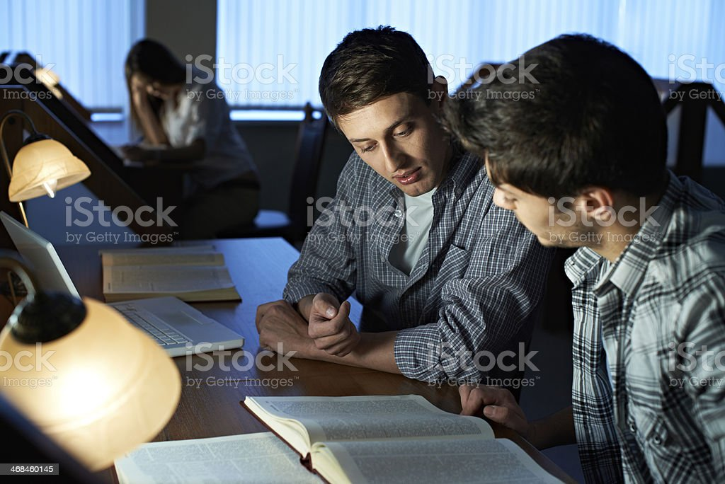 Students at library royalty-free stock photo