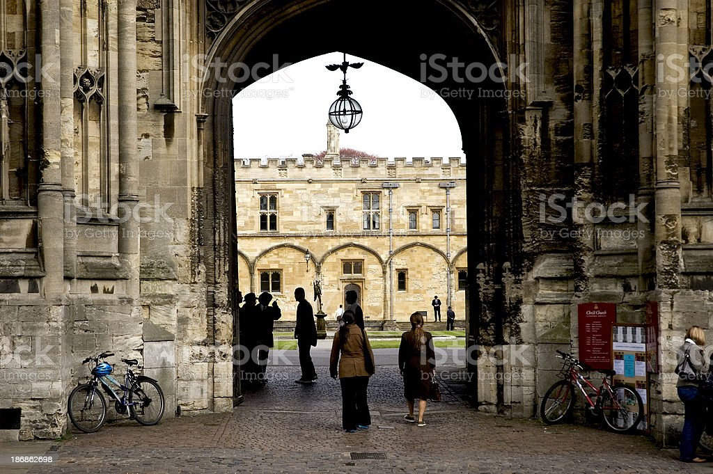 Students at Oxford University stock photo