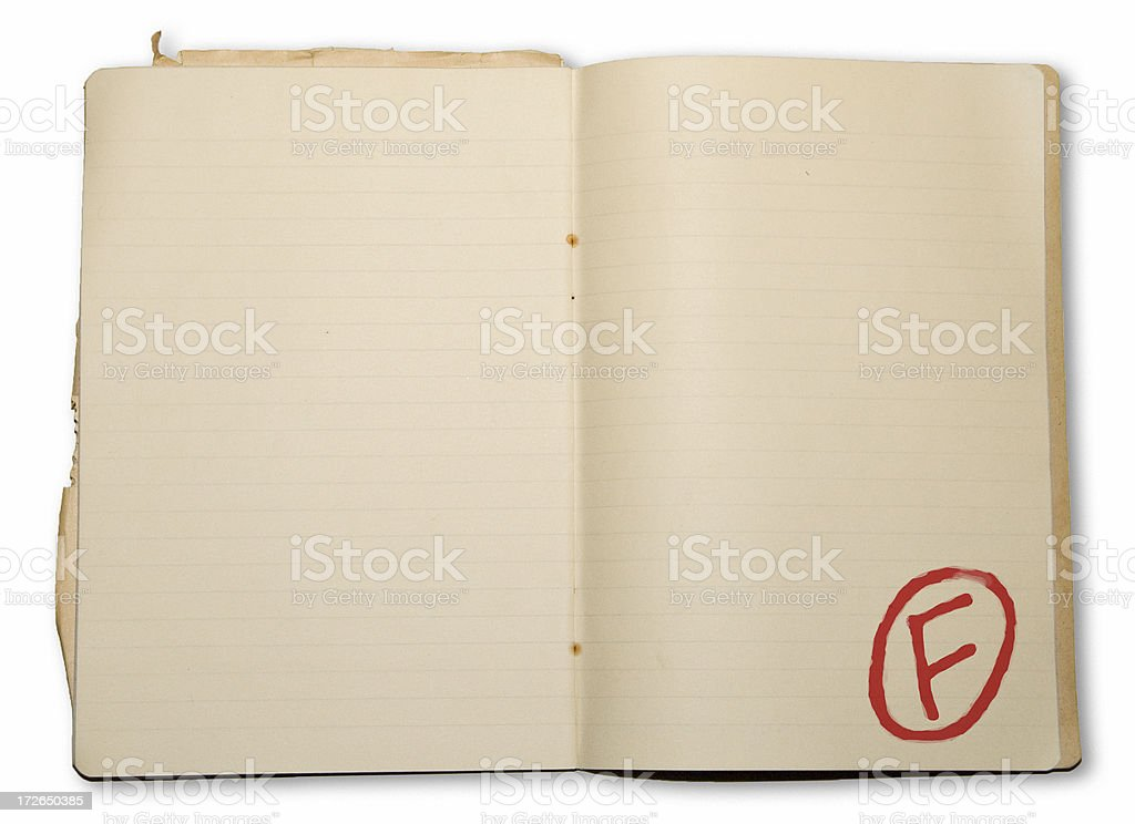 students book with an f royalty-free stock photo