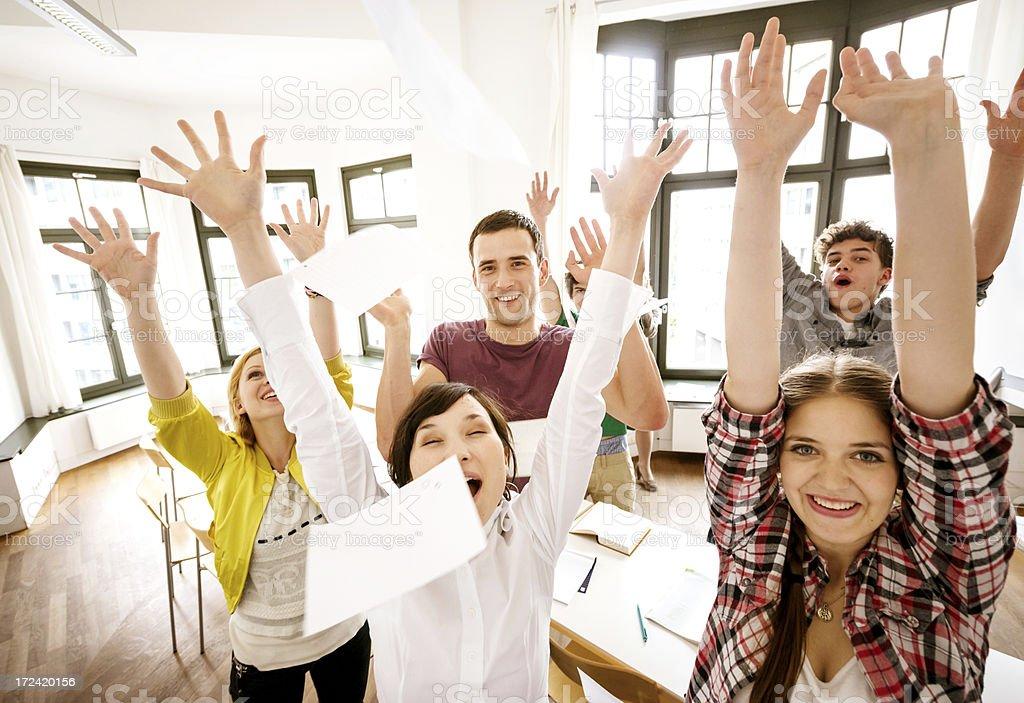 students celebrating royalty-free stock photo