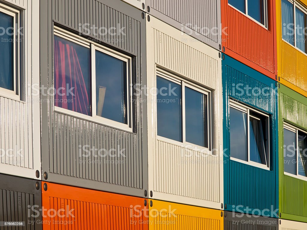 Students containers stock photo