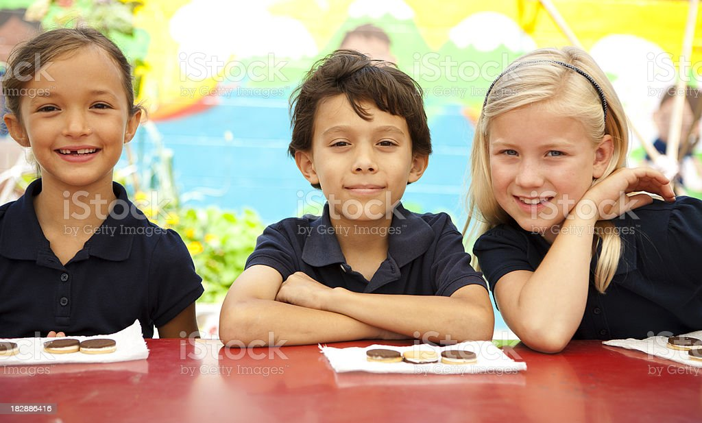Students during lunch break. royalty-free stock photo