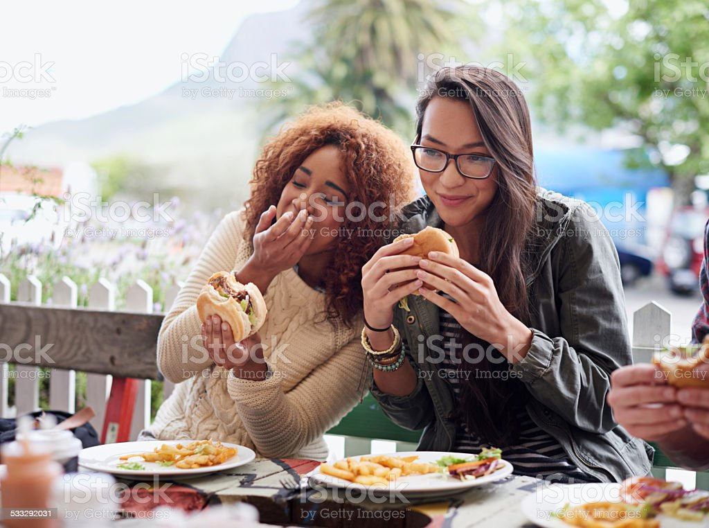 Best Buds hanging out stock photo