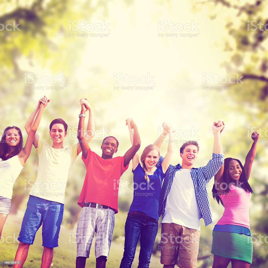 Students Friendship Team Relaxation Holiday Concept stock photo