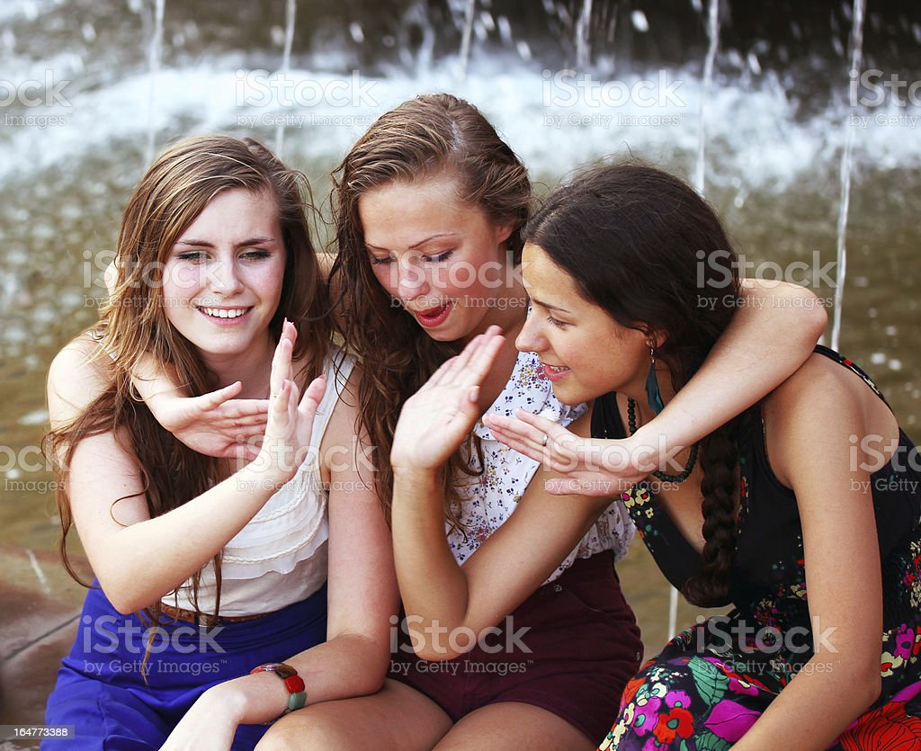 Students girls royalty-free stock photo