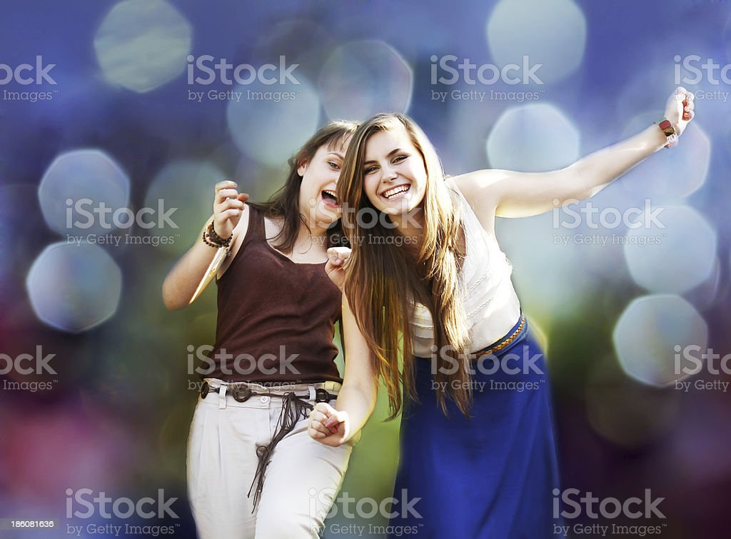 Students girls royalty-free stock photo