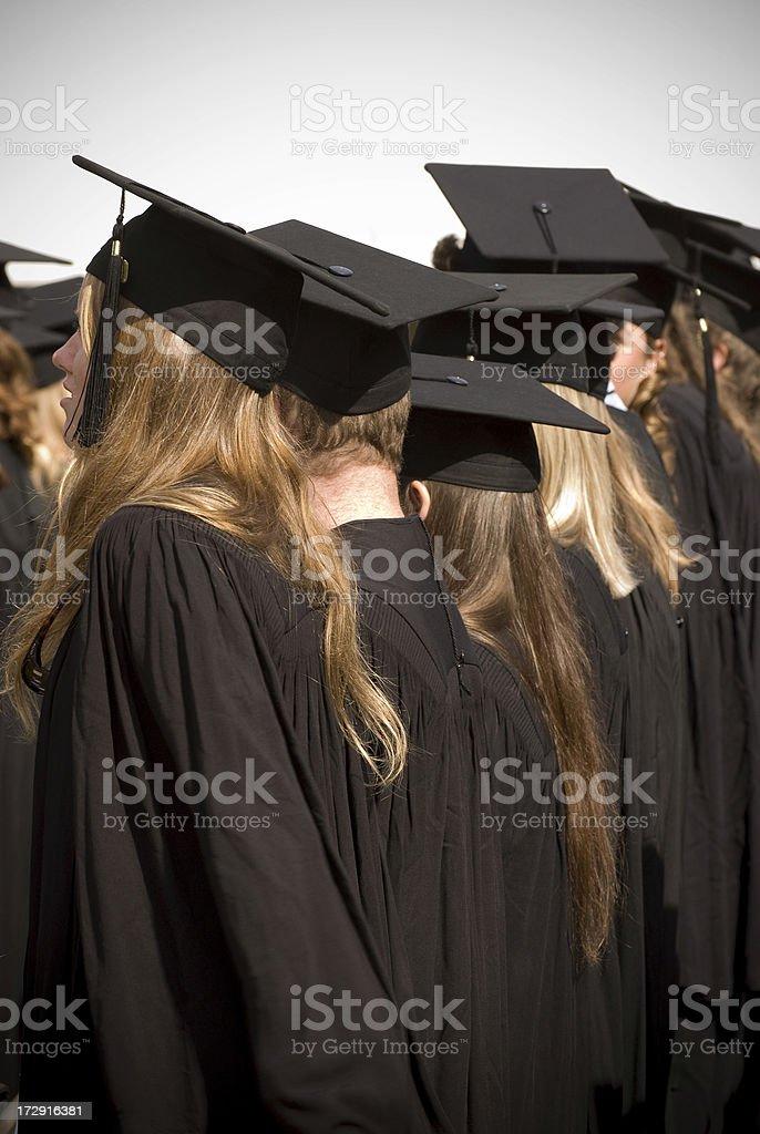 Students graduating stock photo