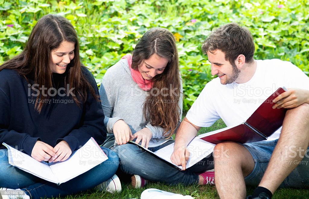 Students group royalty-free stock photo