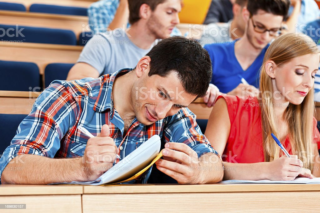 Students in a lecture hall royalty-free stock photo