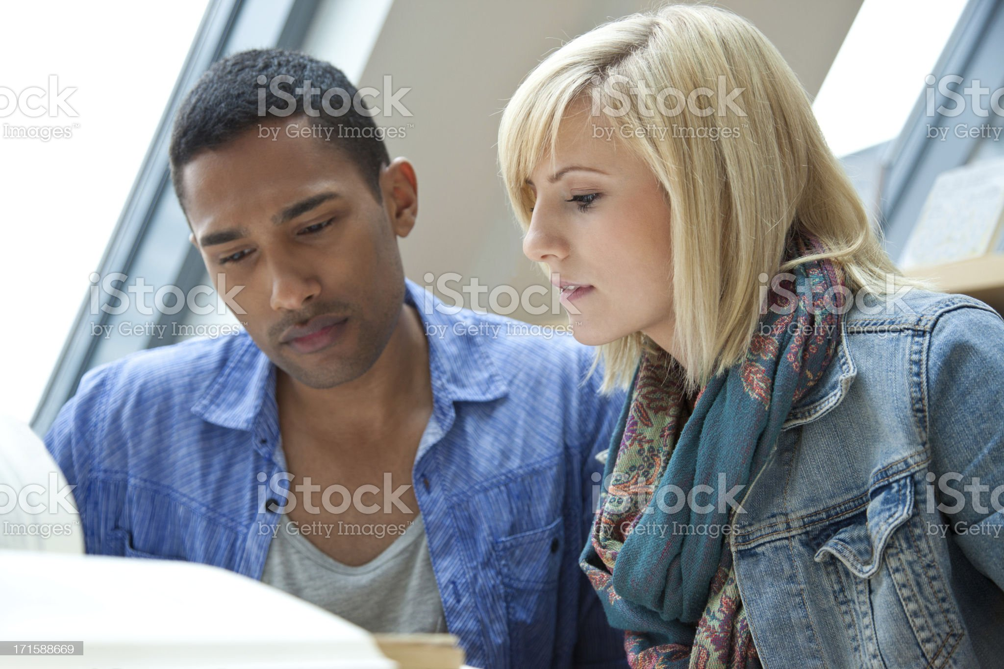 Students in a library royalty-free stock photo