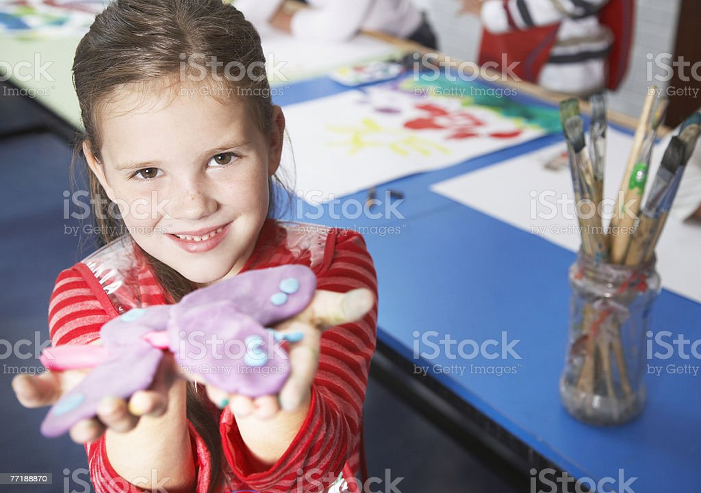 Students in art class royalty-free stock photo