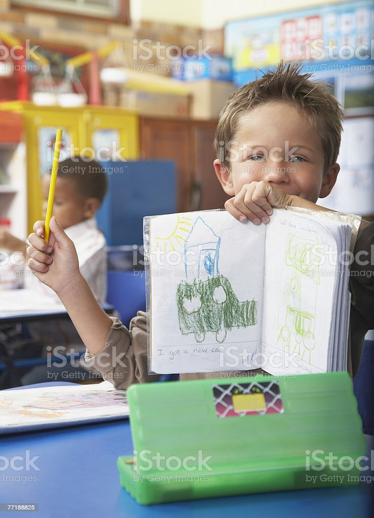 Students in class drawing royalty-free stock photo