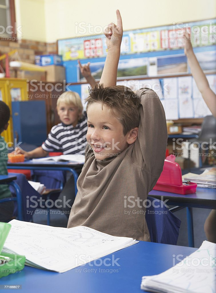 Students in class royalty-free stock photo