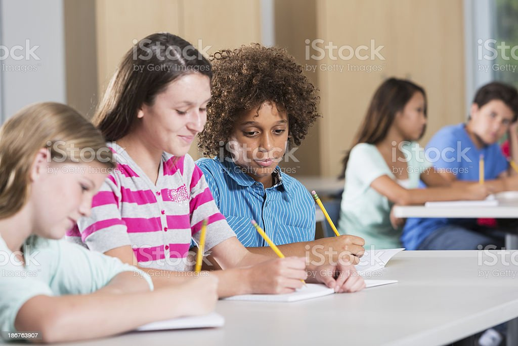 Students in classroom royalty-free stock photo