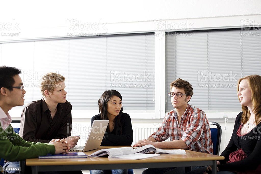 Students in lecture room royalty-free stock photo