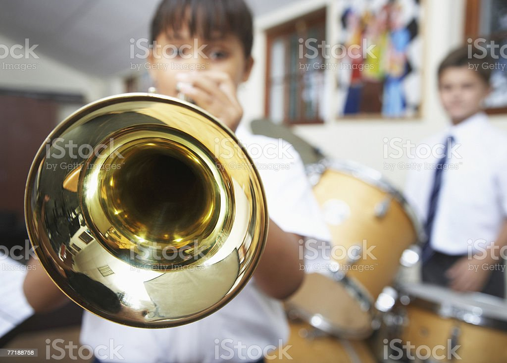 Students in music class royalty-free stock photo
