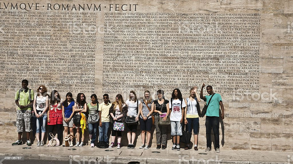 Students in Rome stock photo