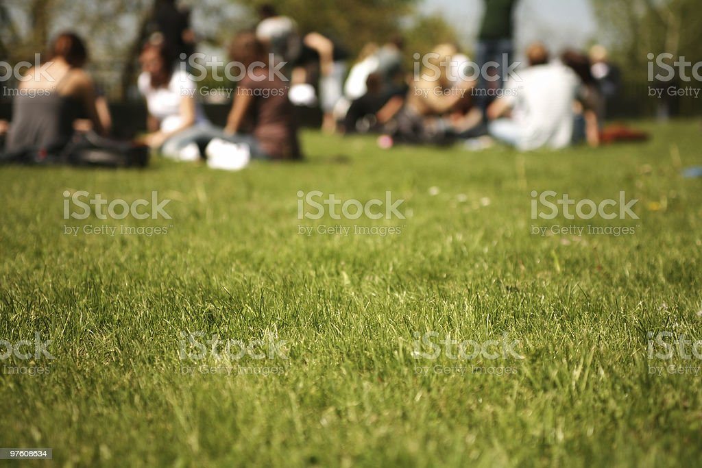 Students in the Campus royalty-free stock photo