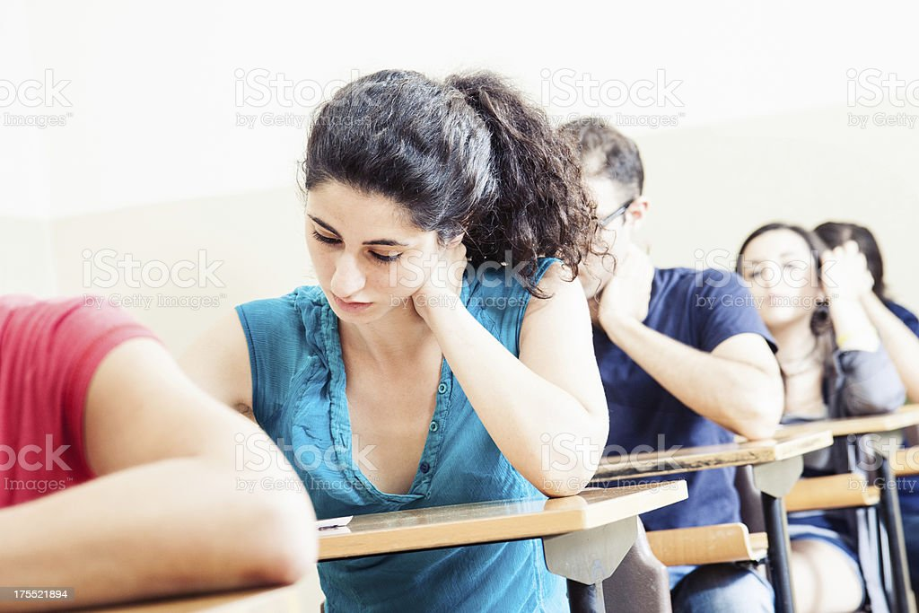 Students in the classroom royalty-free stock photo