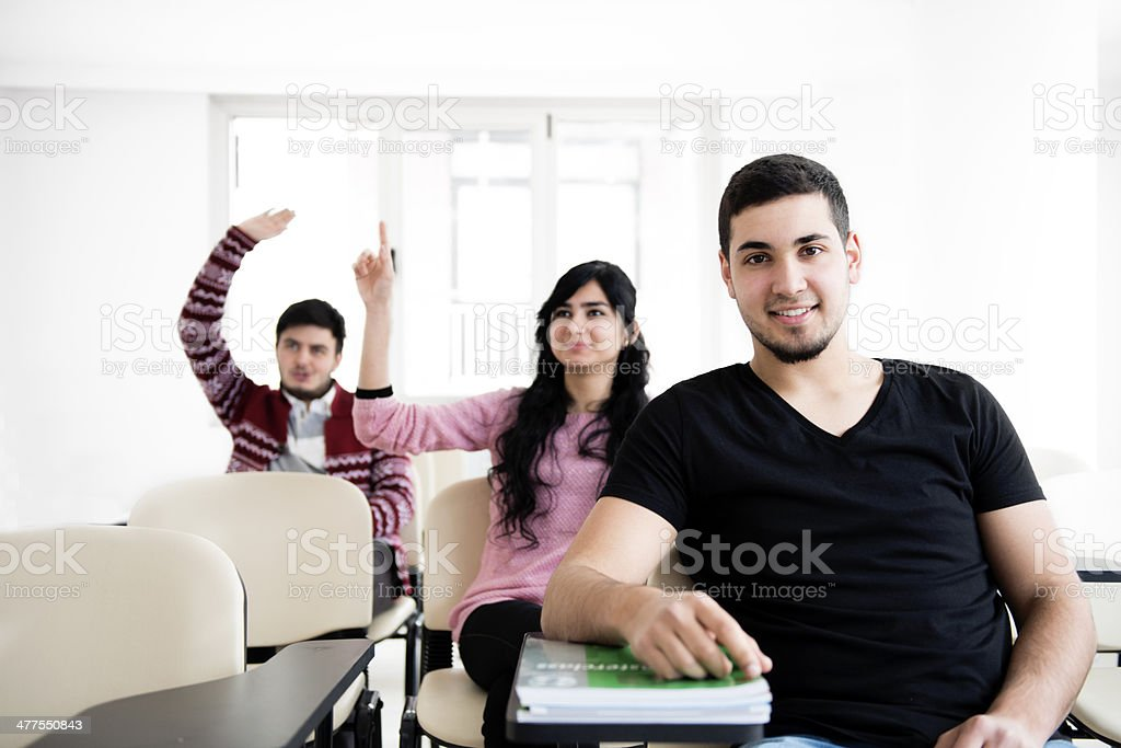 Students in the course royalty-free stock photo