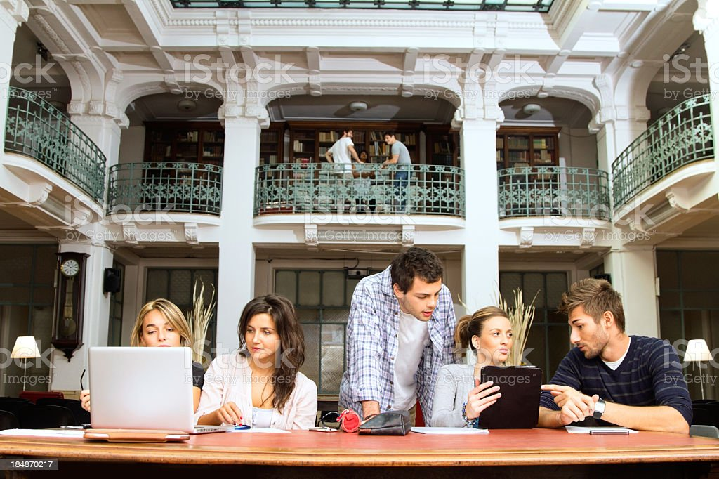 Students in the library royalty-free stock photo